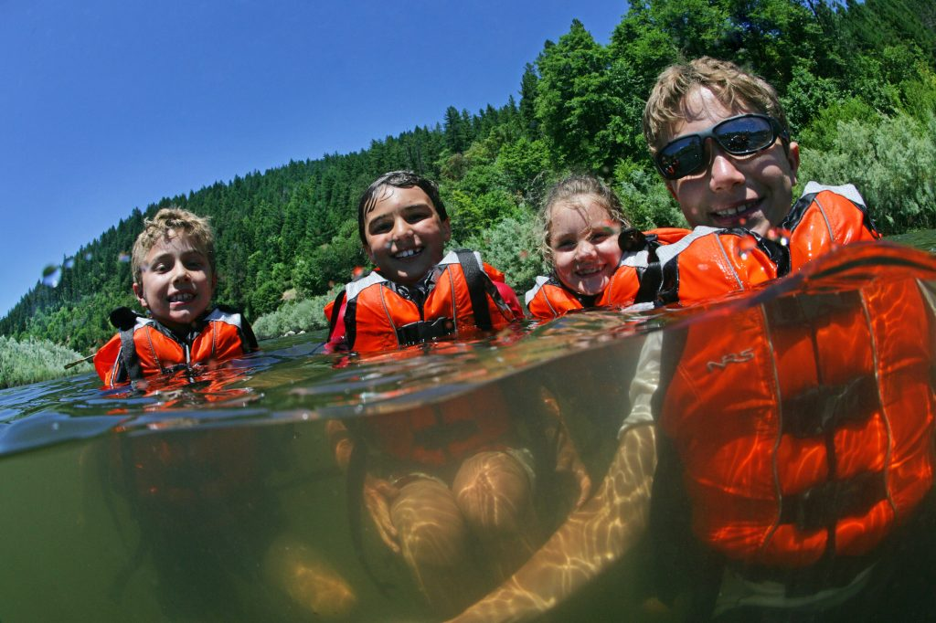 river swimming with kids - less screen time