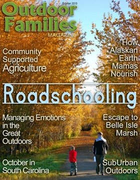 October cover Outdoor Families Magazine
