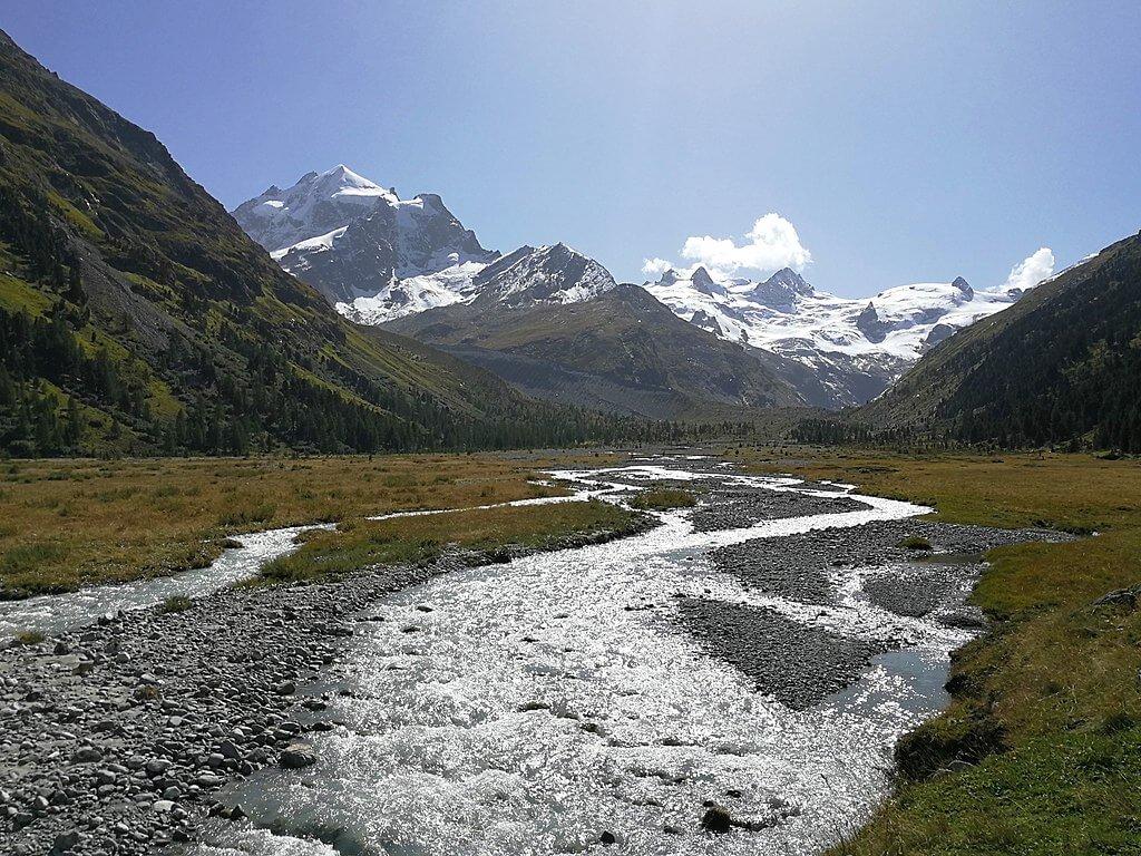 val roseg hike engadin st moritz switzerland