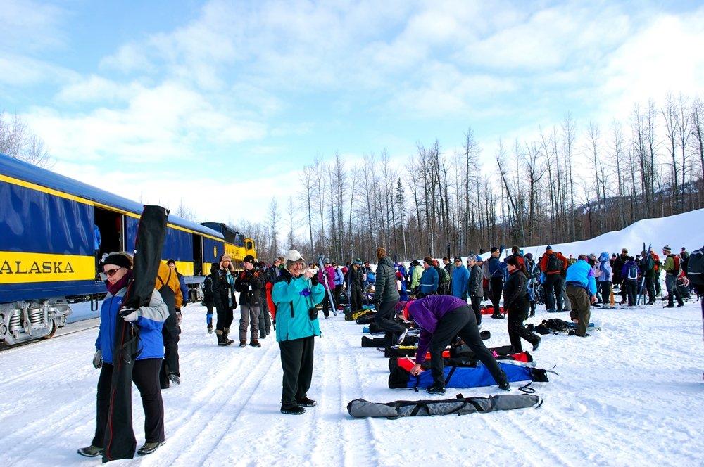alaska ski train