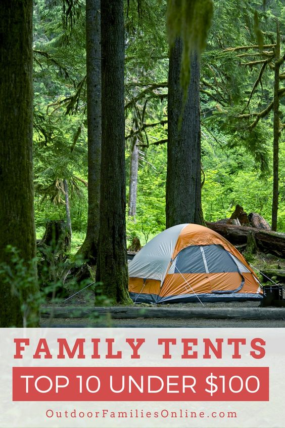The best family tent under $100 should still give you plenty of room, shed rain, handle some wind, and packable for car camping.