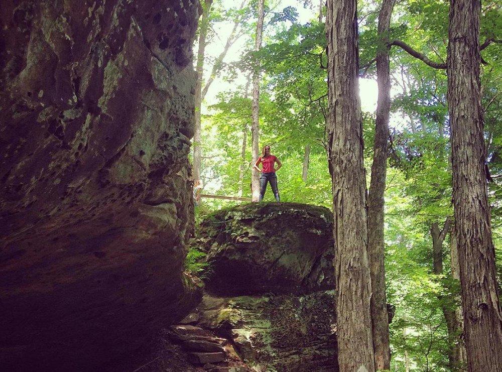Hemlock Cliffs indiana hemlock falls indiana Earthcaching
