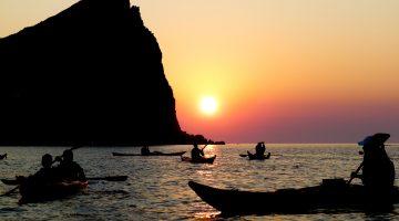 kayaking milos greece kids