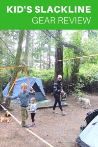 Choosing the right kid's slackline kit doesn't have to be difficult. Read our full review of The Play Line made by Slackline Industries, designed for kids and slackline beginners of all ages, then take your first steps off the ground with confidence. Perfect for your next family camping trip! #FamilyCamping #CampingHacks #Slackline