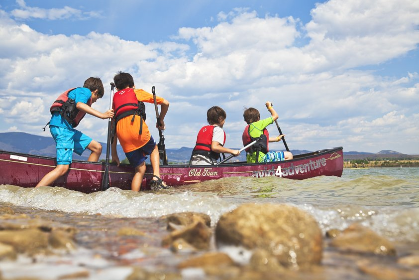 Avid 4 Adventure summer camp kids kayaking