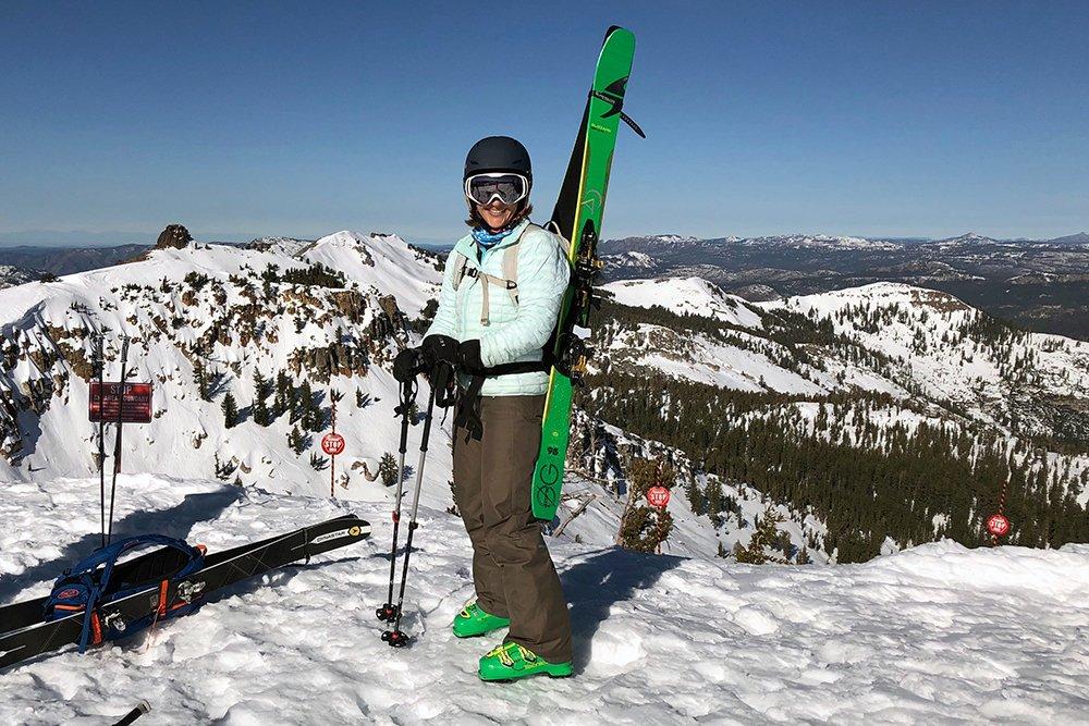 women ski backcountry guide